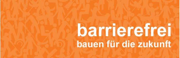 Layout Buchtitel: barrierefrei - bauen für die zukunft