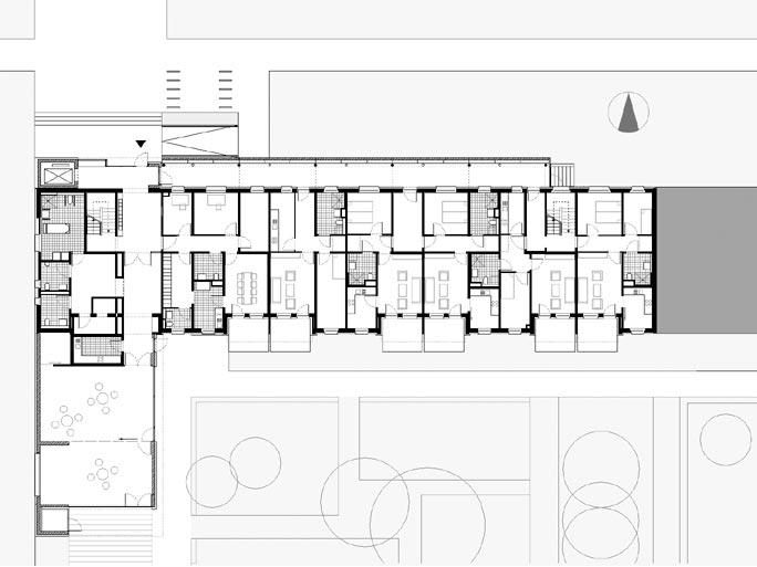 Um- und Rückbau Wohnen mit Service / Betreutes Wohnen: Grundriss Erdgeschoss nach Umbau