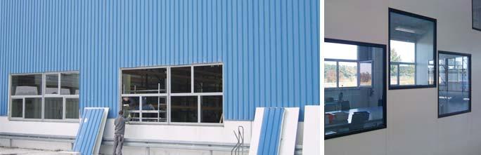 Umbau Produktionsgebäude Kunststoffspritzerei Hoppe: Umbau Außenfassade und Detail Innen