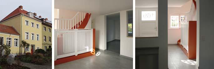 Modernisierung Pfarrhaus – Außenansicht und Erdgeschoss nach Umbau