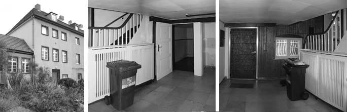 Modernisierung Pfarrhaus: Außenansicht und Erdgeschoss vor Umbau