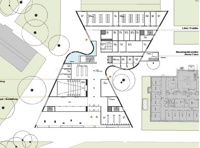Laborgebäude Bioquant: Grundriss EG
