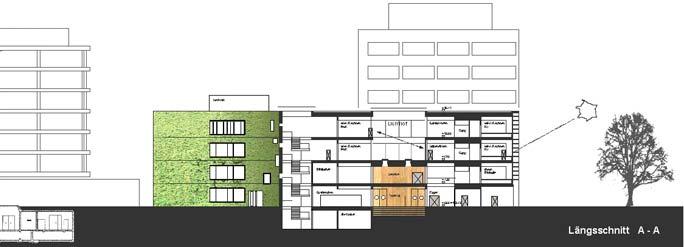 Laborgebäude Bioquant: Schnitt