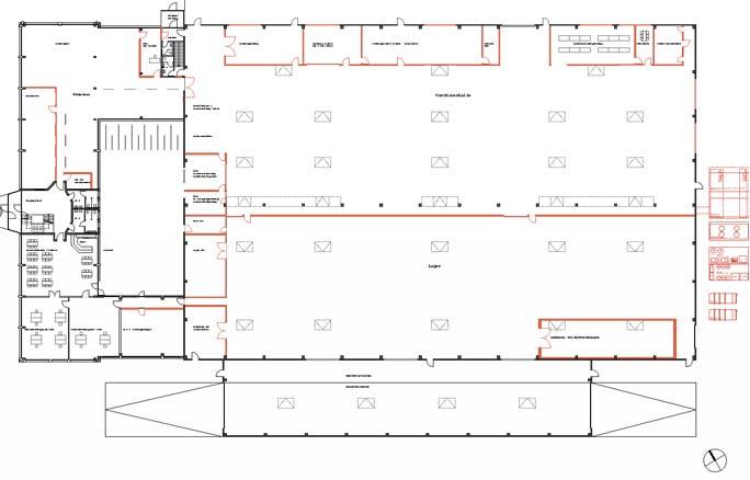 Umbau Produktionsgebäude Kunststoffspritzerei Hoppe: Grundriss EG
